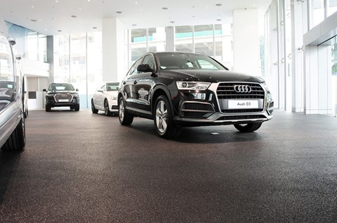 Flowcrete Supplies Rustik to Audi Showroom