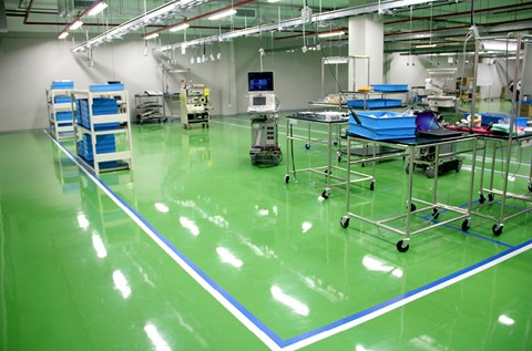 Flowcrete Conducts Toshiba's Anti-Static Floor Installation