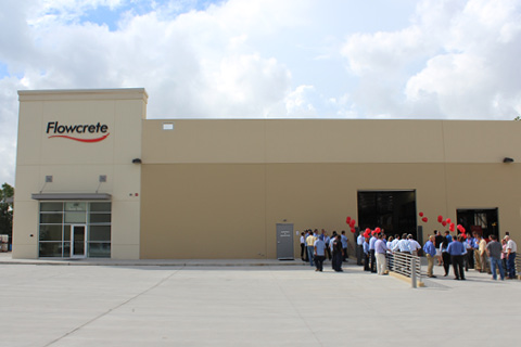 2014 | Flowcrete Americas Opens its New Manufacturing Plant